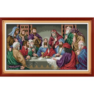 Cross Stitch Kit THE LAST SUPPER X Stitch Joy Sunday Designs Incl Threads New