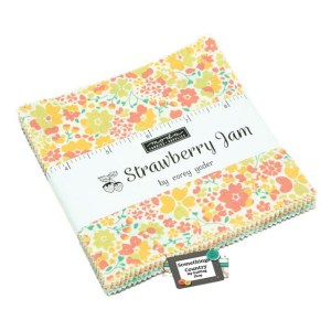 Quilting Charm Pack Patchwork MODA STRAWBERRY JAM 5 Inch Fabrics New