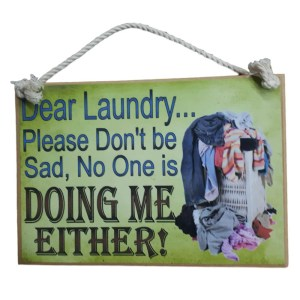 Country Printed Quality Wooden Sign Laundry Getting Done New Plaque New