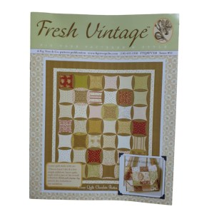 Quilting and Sewing Pattern Fig Tree and Co FRESH VINTAGE CHOCOLATE PATISSERIE New