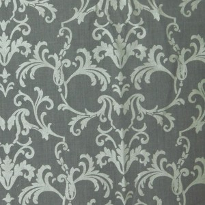 Patchwork Quilting Sewing Fabric GREY and SILVER FILIGREE 50x55cm FQ New
