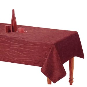 Country Style New Table Cloth SONATA BURGUNDY Tablecloth RECT 140x185cm New