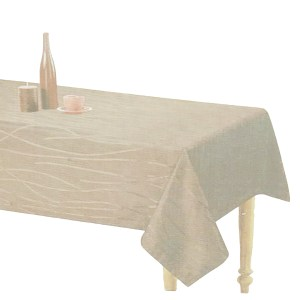 Country Style New Table Cloth SONATA IVORY Tablecloth RECTANGLE 140x185cm New