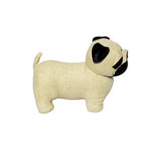 French Country Vintage Look Sitting Weighted PUG DOG DOORSTOPPER New Door Stopper