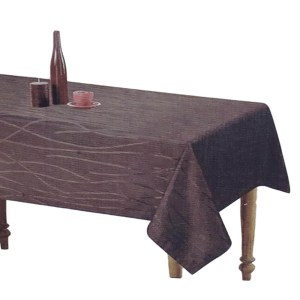 Country Style New Table Cloth SONATA CHOCOLATE Tablecloth RECT 140x185cm New