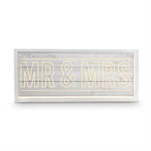 Wedding WHITEWASH Wooden LED Wishing Well MR & MRS Card Box New