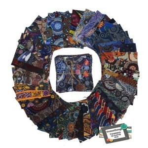Quilting Charm Pack Patchwork ABORIGINAL THEMED PRINTS 5 Inch Fabrics Material New