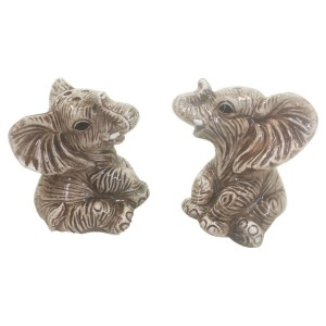 French Country Collectable Novelty Magnetic ELEPHANTS Salt and Pepper Set New