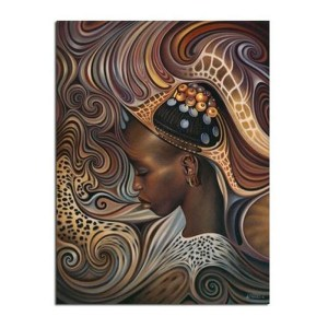 5D Diamond Painting Full Image Square Drills AFRICAN LADY 20x25cm New