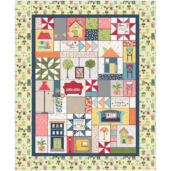 Quilting Charm Pack Patchwork MAYWOOD MAKE YOURSELF AT HOME 5 Inch Fabrics New