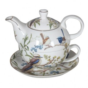 French Country Lovely Teapot Australian BIRDS TEA FOR ONE with Gift box New
