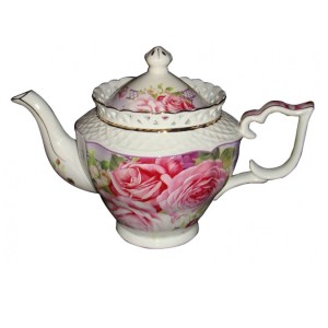 French Country Lovely Kitchen Teapot PINK ROSE China Tea Pot with Gift Box New
