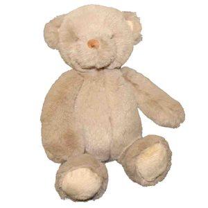Cuddly Plush Teddy Bear Pale Brown Dark Cream Fur Childrens 30cm Sitting New
