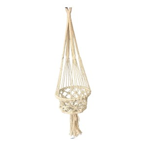 French Country Vintage Inspired MACRAME POTPLANT HANGER 22x75cm New