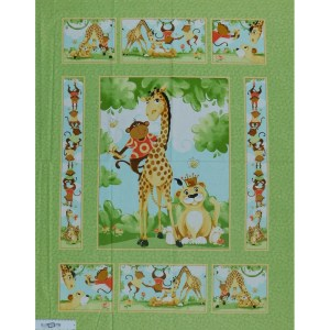 Patchwork Quilting Sewing Fabric SUSYBEE MONKEY JUNGLE Panel 90x110cm New