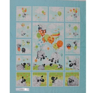 Patchwork Quilting Sewing Fabric SUSYBEE EWE'S BALLOONS Panel 90x110cm New