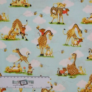 Patchwork Quilting Sewing Fabric MONKEY JUNGLE Allover 50x55cm FQ New