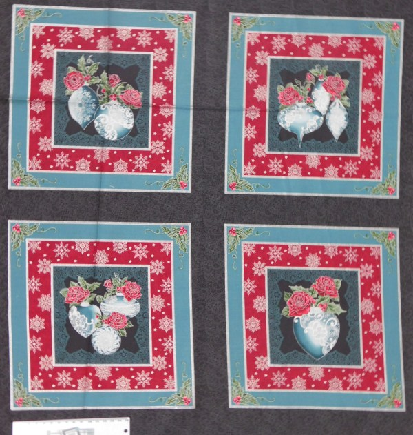 Patchwork Quilting Sewing Fabric FESTIVE SEASON XMAS Panel 60x110cm New