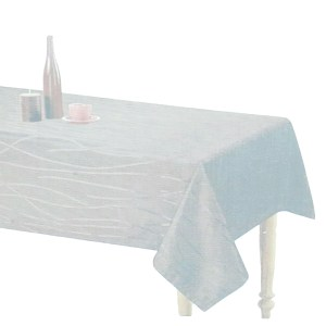 Country Style New Table Cloth SONATA SILVER Tablecloth RECT 150x270cm New