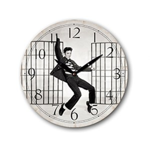 Clock French Country Vintage Wall Hanging ELVIS PRESLEY JAILHOUSE Time 29cm New