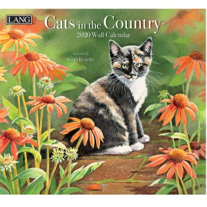 2020 Lang Calendar CATS IN THE COUNTRY by Susan Bourdet New Calender Fits Wall Frame