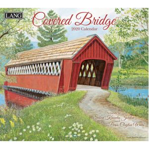 2020 Lang Calendar COVERED BRIDGE by Persis Clayton Weirs New Calender Fits Wall Frame