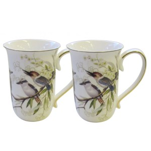 French Country Chic Kitchen 405mm Tea Coffee Mugs KOOKABURRA Set of 2 New