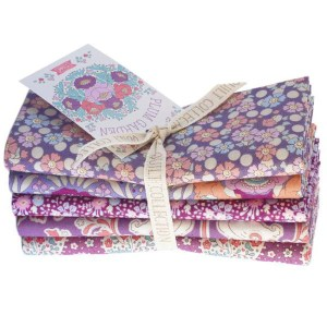 Patchwork Quilting Fabric Tilda Fat Quarter Pack of 5 Plum Garden Plum New