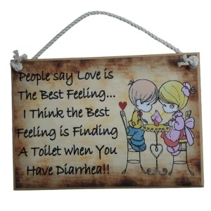 Country Printed Quality Wooden Sign Love Is The Best Feeling Funny Plaque New