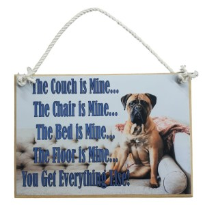 Country Printed Quality Wooden Sign DOG THE COUCH IS MINE Plaque New