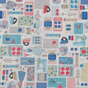 Quilting Patchwork Sewing Fabric STITCH IN TIME 50x55cm FQ Material New