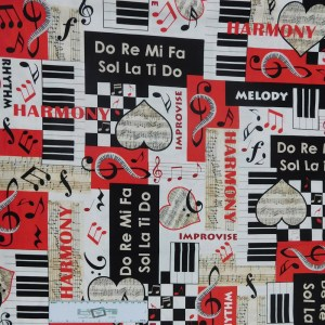 Quilting Patchwork Sewing Fabric HARMONY MUSIC 50x55cm FQ Material New