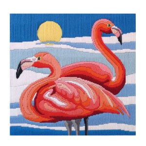 Country Threads Long Stitch Kit FLAMINGOS FLS-5014 Inc Threads New