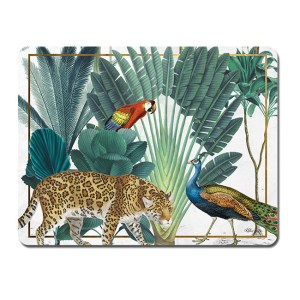 Kitchen Cork Backed Placemats AND Coasters ST BARTS JUNGLE Set 6 New