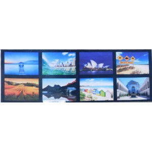 Patchwork Quilting Sewing Fabric AUSTRALIAN ICONS PHOTOS 2 Panel 39x110cm New
