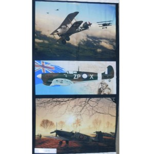 Patchwork Quilting Sewing Fabric AUSTRALIAN WAR PLANES Panel 60x110cm New