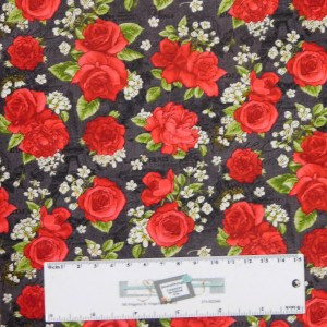 Quilting Patchwork Sewing Fabric PARIS ROSES BLACK 50x55cm FQ Material New