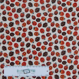 Quilting Patchwork Sewing Fabric LADY BUG BEETLE 50x55cm FQ Material New