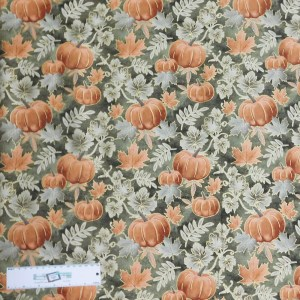 Quilting Patchwork Sewing Fabric PUMPKIN VINE 50x55cm FQ Material New