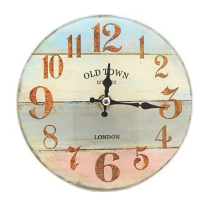 French Country Chic Retro Inspired Wall Clock 17cm OLD TOWN New