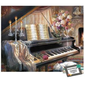 5D Diamond Painting Full Image Square Drills PIANO 40x50cm New