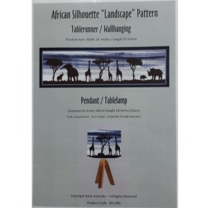Quilting Sewing Quilt Pattern AFRICAN LANDSCAPE Patchwork Pattern Batiks New