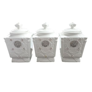French Country Kitchen Canisters Plain no Badges Lid with Seals New