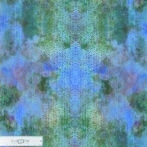 Quilting Patchwork Sewing Fabric GARDEN OF DREAMS PEARLS PURPLE GREEN 50x55cm FQ New
