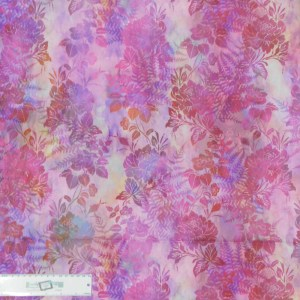 Quilting Patchwork Sewing Fabric GARDEN OF DREAMS PINK 50x55cm FQ New Jason Yenter