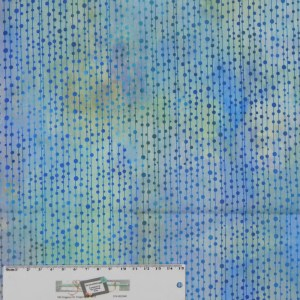 Quilting Patchwork Sewing Fabric GARDEN OF DREAMS PEARLS BLUE 50x55cm FQ New