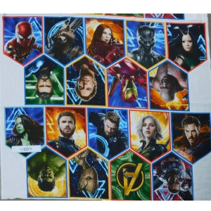 Patchwork Quilting Sewing Fabric MARVEL END GAME Panel 100x110cm New