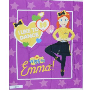Patchwork Quilting Sewing Fabric THE WIGGLES EMMA Panel 90x110cm New Cotton Material
