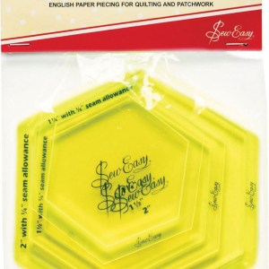 Quilting Patchwork Sewing Template Sew Easy HEXAGON TEMPLATE SET 1.25 to 2 Inch New