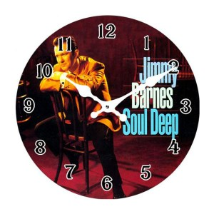 French Country Chic Retro Inspired Wall Clock 17cm JIMMY BARNES SOUL DEEP New